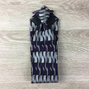 Stafford Dark Purple & Gray Patterned Clip On Tie
